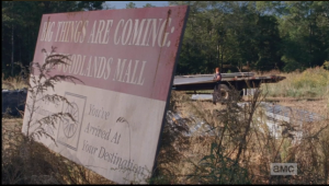 It seems Abraham is working with a team led by Tobin, gathering materials from the abandoned mall construction site...