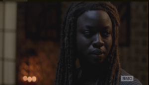 Michonne turns to Abraham, asks him,