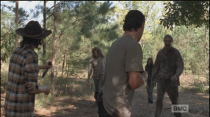 rick and carl ready to rumble