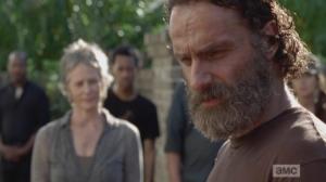 Rick and his gang aren't feeling it, having their guns taken away.