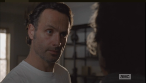 We see a shot of Rick, asking Carol she knows this...how? Did Sam tell her?