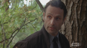 Rick turns to Carol and Daryl, says that they should keep their doubts, suspicions, plans about Alexandria to themselves, that they want the others in their group