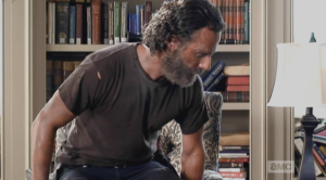 I guess it has been a long time since Rick has actually gotten to sit in an actual chair...maybe the last time was in