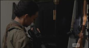 As Sasha checks over her rifle, Olivia has a special request...