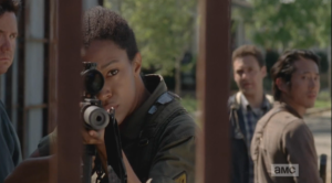 sasha takes aim