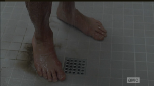 As the thick layers of Rick Grime wash down the shower drain, we see our man is rocking some serious 7-11 feet.