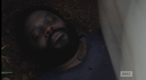 ...and poor Tyreese's dead body being covered with a sheet.