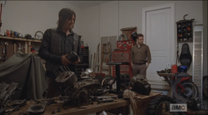 Aaron continues, telling Daryl that while he, Aaron,  always wanted to teach himself how to work on, and build, the motorcycle, he has a feeling that Daryl already knows how to do this.