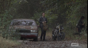 daryl and aaron dip into the woods