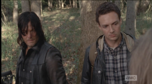 Aaron and Daryl take in this awful sight.