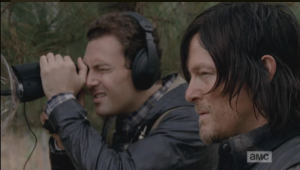 Watching the man, Daryl remarks,