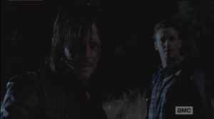 daryl says someone is