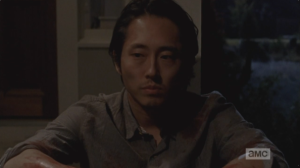 Glenn's voice is hoarse, soft.