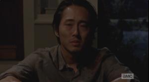 Glenn looks sorrowfully at his listener.