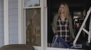 I love this look on her face when she looks up and sees Rick coming up her porch stairs...Alexandra Breckenridge does an amazing job in this episode, and of course, Andrew Lincoln...well, there are no words, even for me.