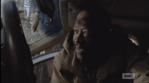 Morgan shuts the young feral felons into the back seat, and then he leans across the front seat of the car, honking the horn 2 or 3 times, ostensibly to alert their