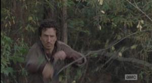 Nicholas rushes forward from his cowardly hiding spot in the bushes. (Nicholas! You dastardly bastard!)