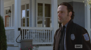 Rick stops a moment, breathing deep, trying to keep his cool.