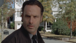 Rick turns towards Jessie's house. It seems he had finally found his words. He strides towards the house.