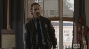 Rick Grimes isn't going anywhere. If he leaves, it may very well be the time that McBeaty does kill Jessie. And beside, she said yes. She is Rick Smash!'s woman now, and nobody, I mean nobody, lays a hand against Rick Smash!'s woman. Fuck you, McBeaty.