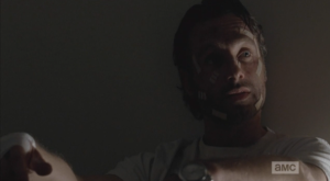 Rick turns the baby blues up to Michonne.