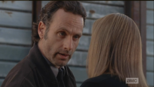 In inimitable Rick-In-Charge fashion, Rick Grimes lays it down for Deanna Monroe,