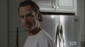 Even with bandaids and shit all over his face, Rick Grimes is just one fine-ass looking man.