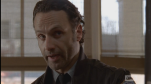 Rick Grimes gives Pete one more chance, says quietly, firmly, slowly,