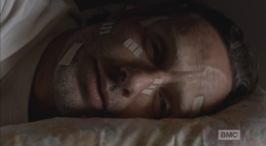 Rick Grimes wakes up in lockdown...