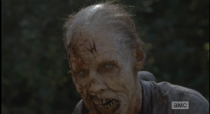 ...and we see one of the last walkers has a telltale