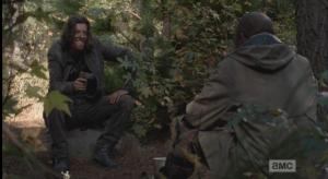Still laughing, the young man sits back, regards Morgan.