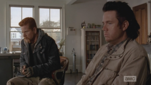 First Abraham, then Eugene, turn their gazes back to Tara, sleeping in her bed. An awkward moment passes, then Eugene speaks up.