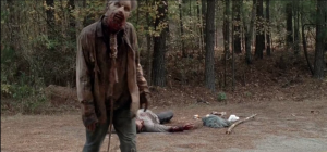 Eat Me Walker lurches towards Gabriel.