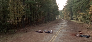 Gabriel breaks down, sobbing.  He collapses in the road, crying in real anguish. Seth Gilliam, killing it once again as Gabriel, tortured priest. Renegade Deadie to our man, Seth Gilliam! (I do hope after this season, Seth Gilliam can start living closer to the rest of the TWD cast during shooting...way more fun!)
