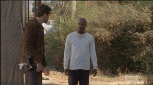 Spencer rolls open the gate.