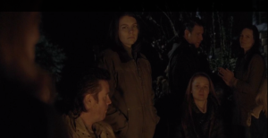Maggie is trying to keep cool, but glances over towards Deanna. You can tell she's worried. It doesn't look good for Rick, his not being there. And where is Glenn?