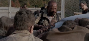 morgan saves aaron and daryl 1