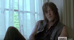 Daryl, of course, looks like he's on board with Rick's plan...and looking mighty fine, as usual...