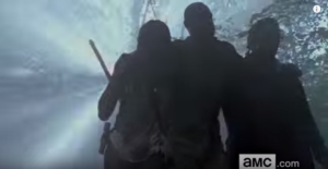 It's hard to know who this mystery figure is with Michonne and Rick...he looks taller than Morgan...new character, perhaps?