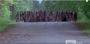 And here come the walkers...