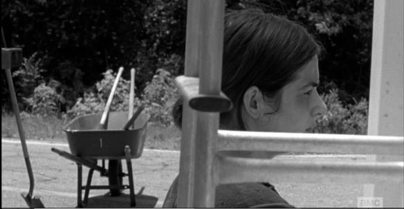 Tara watches them, vibing Nicholas as says to Maggie,
