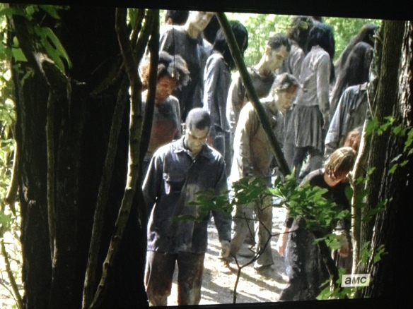 With thousands of walkers just feet away, and Carter screaming in his shock, pain, and anguish...