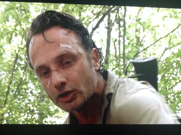 Rick tries to shush the screaming man...