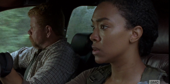 As the car speeds down the road, Abraham looks out the window, asks Sasha, casually,