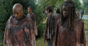 gabriel steps up 15 michonne stink eye