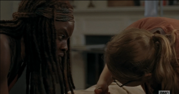 michonne rick 2 he's out there, he needs my help