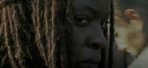 michonne stay calm close up