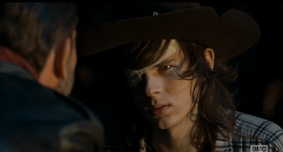 lm 160 carl glares at negan